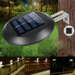 New 2pcs 9 LED Solar Powered Wall Mounted Light Waterproof Outdoor Garden Landscape