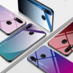 New Bakeey Gradient Tempered Glass Protective Case For Samsung Galaxy M20 2019 Scratch Resistant Back Cover