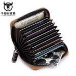 New Bullcaptain Men Genuine Leather Multi-slots Card Holder