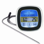 New TS-S62 Digital Meat Thermometer Oven Colorful Touchscreen Instant Read Probe Kitchen BBQ Cooking Thermometer with Timer Alert Function