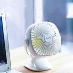 New Baseus Mini USB Rechargeable Air Cooling Fan Clip Desk Fan Dual Use Home Student Dormitory Bedside Portable Desktop Office Fan