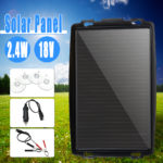 New 18V 2.4W Solar Panel Battery Charger Backup For Car Boat Caravan Power Supply