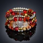 New Bohemian Crushed Stone Bracelet