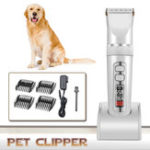 New LCD Rechargeable Pet Hair Trimmer Low-noise Cordless Electric Clipper Hair Remover Cutter with Comb for Cat Dog Grooming Tools