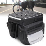 New BIKIGHT Nylon 68L Bike Luggage Bag Big Capacity Durable Cycling MTB Pannier Rear Rack Trunk Motorcycle E-bike Bag