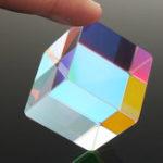 New 30x30mm Cube Defective Cross Dichroic Prism RGB Combiner Splitter Glass Decor