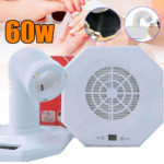New 60W Nail Art Salon Dust Collector Suction Cleaner Manicure Machine 360° Rotation