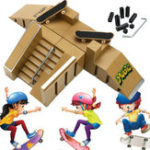 New Skate Park Ramp Parts With 2 Deck Fingerboard Finger Board Toys