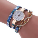 New DUOYA D060 Rose Gold Case Women Bracelet Watch