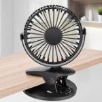 New 360° Rotation Mini Fan Battery Operated/USB Rechargeable Clip on Fan for Baby Stroller/Gym/Office/Study