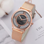 New LVPAI P732 Rose Gold Elegant Design Women Wrist Watch