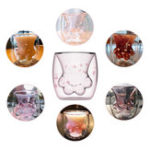 New Cute Glass Bear Cup Cat Claw Cup Double Wall Insulated Mug Coffee Milk Tea Transparent Cup Birthday Gifts