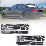 New Carbon Fiber Pattern Car Interior Dashboard Sticker Wrap Decoration for BMW 5-Series F10 F18 2011-17