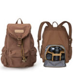 New Men Canvas Shoulder Camera Bag Outdoor Backpack