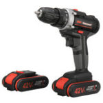 New 42V Cordless Electric Drill Double Speed Power Screwdriver W/ 1 or 2 Li-ion Battery