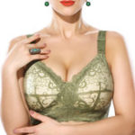 New G Cup Wireless Full Cup Thin Breathable Lace Bra
