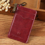 New Vintage Genuine Leather Keychain Card Holder Wallet For Men