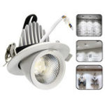 New 5W 7W 12W 15W 20W 30W LED COB Dimmable Ceiling Lamp Adjustable Dowm Light Spotlight Flush Mount Fixture