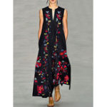 New Sleeveless Floral Maxi Dress