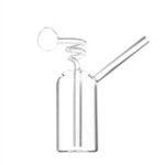 New Glass Water Pipe Bottle Straw Glassware
