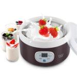 New 1L Mini Yogurt Machine Full Automatic Natto Rice Yoghurt Smart Machine With 4Pcs Glass Jar