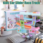 New Click Clack Racetrack Wooden Children Car Slider Race Track Toys Developmental Funny Toy