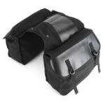New Motorcycle Saddlebags Back Pack Mountain Bike Saddle Bag Black