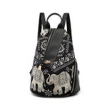 New Leisure Print Multi-function Travel Anti-theft Backpack