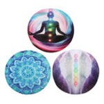 New KALOAD Anti-skid Chakren Meditation Round Yoga Mats Floor Verdicken Yoga Teppiche