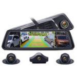 New Junsun K910 10 Inch FHD 1080P Octa Core 4G SIM 4 Channel ADAS Android Car DVR GPS WiFi Camera