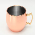 New 18oz Glossy Moscow Mule Cup Cocktail Stainless Steel Copper Cup Shaker