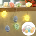 New 3M Battery Powered Warm White 20 LED Easter Eggs String Light Fairy Lamp Party Decoration