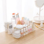 New Plastic Makeup Organizer Desktop Cosmetic Holder Display Case Storage Box