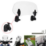 New Universal Adjustable Clip On Transparent Windshield Extension Spoiler Wind Small Windscreen Deflector For Motorcycle Scooter