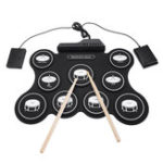 New iword G4009 9 Pads Electronic Drum Portable Roll Up Drum Kit USB MIDI Drum with Drumsticks Foot Pedal for Beginners