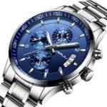 New CRRJU 2214 Business Style Men Full Steel Quartz Watch
