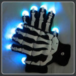 New Halloween Party Glow LED Gloves With Gemmy Skeleton Magic Props
