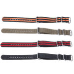 New KALOAD 18/20/22/24mm Multicolor Durable Smart Watch Band Military Nylon Bracelet Strap Replacement