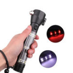 New XANES 1290A XPE White Light + Red Light USB Rechargeable Flashlight Built-In 1800mAh Battery Mini LED Flashlight