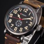 New CURREN 8283 Calendar Casual Style Leather Men Wristwatch