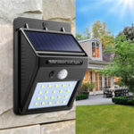 New 3pcs Solar Power 20 LED PIR Motion Sensor Wall Light Waterproof  Outdoor Path Yard Garden Security Lamp