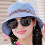 New Women Cotton Sun Protection Wide Brimmed Bucket Hat