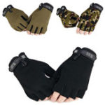 New 1Pair Half Finger Gloves Tactical Gloves Anti-skid Glove Hand Protector Cover For Outdoor Hunting Camping Fitness