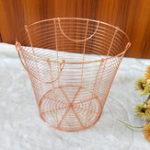New Copper Wire Mesh Round Baskets Bin Contemporary Homewares Gift Novelty Storage
