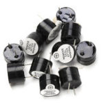 New 10pcs 12V Active Buzzer Electromagnetic SOT Plastic Sealed Tube Long Sound 12mmx9.5mm