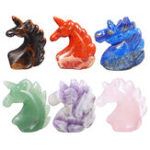 New 1 PC Natural Hand Carved Animal Crystal Healing Gemstone Specimen 50mm Decorations