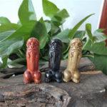 New Ebony Green Sandalwood Handle Piece Yaowu Yangwei Lion Pendant Decorations