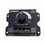 New DC12-24V 30A Brightness Adjustable LED Dimmer Controller for 5050 3528 Single Color Strip Light