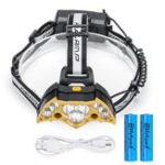 New Elfeland 5000LM Headlamp with 18650 Batteries USB Rechargeable Camping Lamp Hunting Cycling Flashlight
