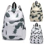 New 13L Outdoor Canvas Backpack Pineapple Pattern Travel School Shoulder Bag